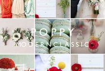 Anemones: red, white and teal wedding / Inspiration and decor ideas