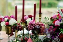 Marsala Wedding / Inspiration and decor ideas with Pantone's colour of the year 2015 | wedding inspiration | plum red burgundy wedding colour scheme | wedding styling