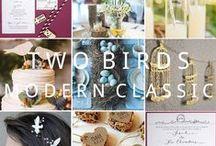 Two Birds: Modern Classic Wedding Stationery / Inspiration and decor ideas