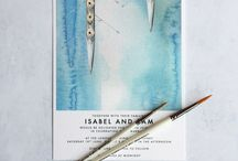 Wedding Stationery by de Winton Paper co / Luxury wedding stationery, modern calligraphy & watercolour Illustration.