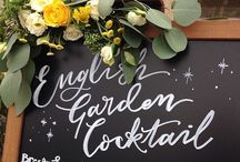 Wedding Signage by de Winton Paper co / Wedding signs | sign writing |  wall hangings | wedding inspiration | wedding styling