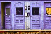 Pink and purple doors. / Pink and purple doors. Also see my other boards about doors in different colors. / by Lea Hartmann