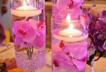 Wedding Table centrepiece ideas pink