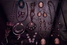 My jewelry / I create jewelry from recycled materials such as old broken jewelry, clock parts, keys and anything else I can think of.