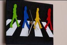 """Orologio in legno """"Abbey Road"""" The Beatles / Oggettistica in legno fatta a mano!"""