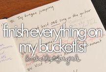 Bucket lists and Goals