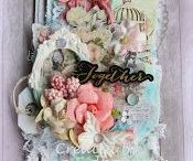 My own projects / Hobby: Mixed media, canvas, cards, colouring, tags, atc, alteration, albums, layouts, 3D