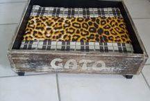 Gavetas / Prateleiras e outros pequenos móveis, reutilizando gavetas
