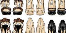 Fashion Design / Fashion flats, vocabulary and sketches