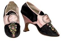 Vintage silk shoes