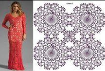 Vestidos de crochê com receita / Vestidos de crochê com receita retirados da net e de revistas