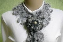 Meus Trabalhos - Cachecóis / Cachecóis confeccionados em tricô e crochê.