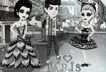 I Love Paris / MovieStarPlanet weekly theme - I love Paris! All about parisienne elegance, effortless chic and French sophistication!