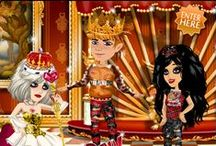 Punk Royale / Weekly theme on MovieStarPlanet - adding a touch of luxe and a bit of bling to the punk style essentials - tartan, safety pins and ripped denim!