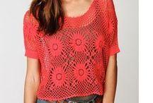 Blusas de crochê / Blusas confeccionadas em crochê retiradas da net e revistas.
