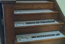 36in x 10in Hardwood Stair Protection Pads / Hardwood Stair Protection Pads - Perfect For Any Home Improvement or Construction Project.