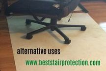 Alternative Uses For Step Protect PLUS / Our Pads Can Be Very Versatile.  Use Them All Over The Home or Office.