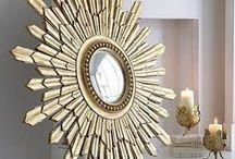 """Sunburst Mirror ideas for Master Bedroom"" / Thinking about adding a Sunburst mirror above bed?"