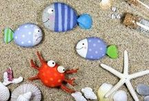 Beach craft / Ideas for what to make with shells, stones and driftwood found at the beach