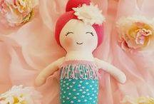 Mermaid Cloth Dolls by Cath's Cottage