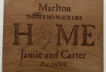 Housewarming Gifts / Need a gift for a new home owner? Why not personalize it with their name or address for a personal touch. See all the We Make It Personal designs here that would make a perfect housewarming gift!
