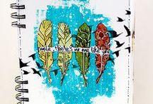 My art journal pages / Art journals by Sanna Lippert
