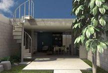 Residência Jabaquara / Casinha varanda pra um. Compacta e econômica, localizada longe da rua a fim de preservar o silêncio. Suas aberturas integram a vivência ao jardim e possibilitam plena iluminação e ventilação cruzada.