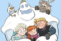 Frozen drawings / Fan arts,books and more