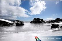 FlySAA - Cape Town /  Intoxicating Cape Town plays a host to diversity, from waddling penguins on Boulders Beach to Table Mountain overlooking the city and a strong heritage. Cape Town is perfect for those seeking adventure, relaxation or culture. / by South African Airways UK