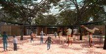 Centro de Educação Complementar – Piauí / Sem muros, provoca forte inclusão e espírito comunitário. A integração é proporcionada pelos acessos plenos e pela organização versátil dos espaços. Projeto de Arquitetura: ODVO e Via6b