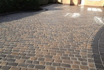 Marshalls Cobbletech Driveway - Formby / Marshalls Cobbletech Driveway in Formby, Canvas and Iron Grey colour by Abel Landscaping