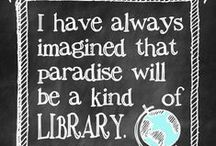 """The world of literature: books; reading and libraries / """"I declare after all there is no enjoyment like reading! How much sooner one tires of any thing than of a book! -- When I have a house of my own, I shall be miserable if I have not an excellent library.""""  ― Jane Austen"""