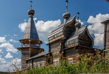 Russian wood carving and architecture