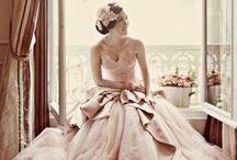 Blush Wedding Dresses / Shades of nude, tan and blush.