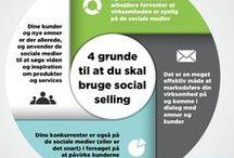 Social selling / Opslagstavle som handler om begrebet social selling, som drejer sig om, hvordan kan bruge de sociale medier til at dyrke og udvikle relationer og forretning.