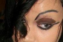 Let's Make-Up / Makeup and Eyebrow plucking gone wrong..... they are covering up their real beauty. Do NOT drink and apply makeup!! Someone HELP them!!! I hope it was Halloween. / by ❥•*``✿.`*•❥Peggy J Shumate❥•*`✿.*•❥