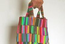 Bags from recycled materials