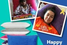 HugOneGiveOne / For every PILLOW of HEALTH Kids Pillow we sell we donate one to a child with cancer! #HugOneGiveOne