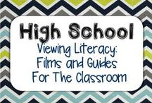 Secondary Viewing Literacy: Films and Guides For The Classroom / Films, Movies, mini-series, clips, lessons, guides, materials for teaching high school English unit of study that includes a film.