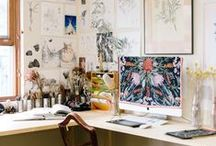 Toimisto / työhuone / studio / Kauniita tiloja, joissa luovuus kukkii ja hommat hoituu.