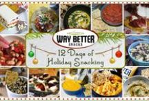 12 Days of Holiday Snacking with Way Better Snacks / Delicious, inspirational snacks from 12 of our blogger friends to tantalize the taste buds this holiday season. #WayBetterRecipe