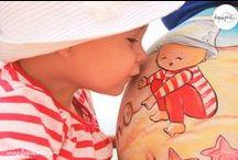 Belly painting de La que pinta / Body painting para embarazadas en sus barriguitas llenas de amor. Más en www.laquepinta.com