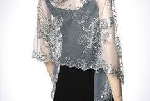 Evening Shawls, Silk Shawls, Chiffon Wraps, Wedding Bridal & Bridesmaids Shawls / I love Evening Shawls, Bridal Wedding & Bridesmaids Shawls, Formal Shawls for dresses & gowns in Black Silver Grey Beige Gold Navy Lilac Purple Red Ivory White Green in Chiffon Silk. Evening Designer  Pashminas are a must have to complete a woman's fashionable wardrobe. Netted Mettalic Shawls make beautiful spring shawls & summer scarves. Hand Painted Shawls with dragonflies, butterflies scrolls & vines are my favorite.
