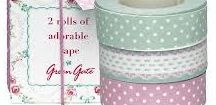 washi tape, lace tape, fabric tape