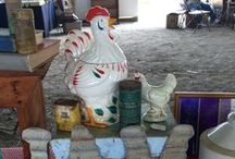"Everything Chicken / We've acquired apart of the collection of an gentleman known to his neighbors in a small town in Central Pennsylvania as ""The Chicken Man.""  Apparently it wasn't unusual to see him walking around town with a rooster or a chicken - on his shoulder."