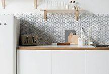 Cool Kitchens / A collection of stylish kitchen ideas for all budgets, from awesome tiles to beautiful benchtops, custom cabinetry and more. A curation of truly magical kitchen design.