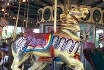 Antique Carousel Horse #2 / These pins are of vintage carousels and animals found in the United States. Most are carved from wood however it is not uncommon for the smaller kiddie carousels from the 1940's - 1950's to be made of metal aluminum alloy. Please pin respectfully as time an effort have been taken to introduce you to the different styles of carousels and their carvers.  / by Donna