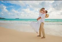 Hawaii Beach Weddings / Captain Howie offers Beach weddings in Hawaii at pristine white sand beaches... off-the-beaten-path. Popular times are sunrise, sunset, or mid-day.