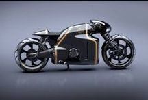 Modern Racer Motorcycles / Modified early model motorcycles given modern components yet still retaining a tradional 60's racer look.