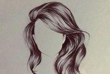 Pitkiä hiuksia